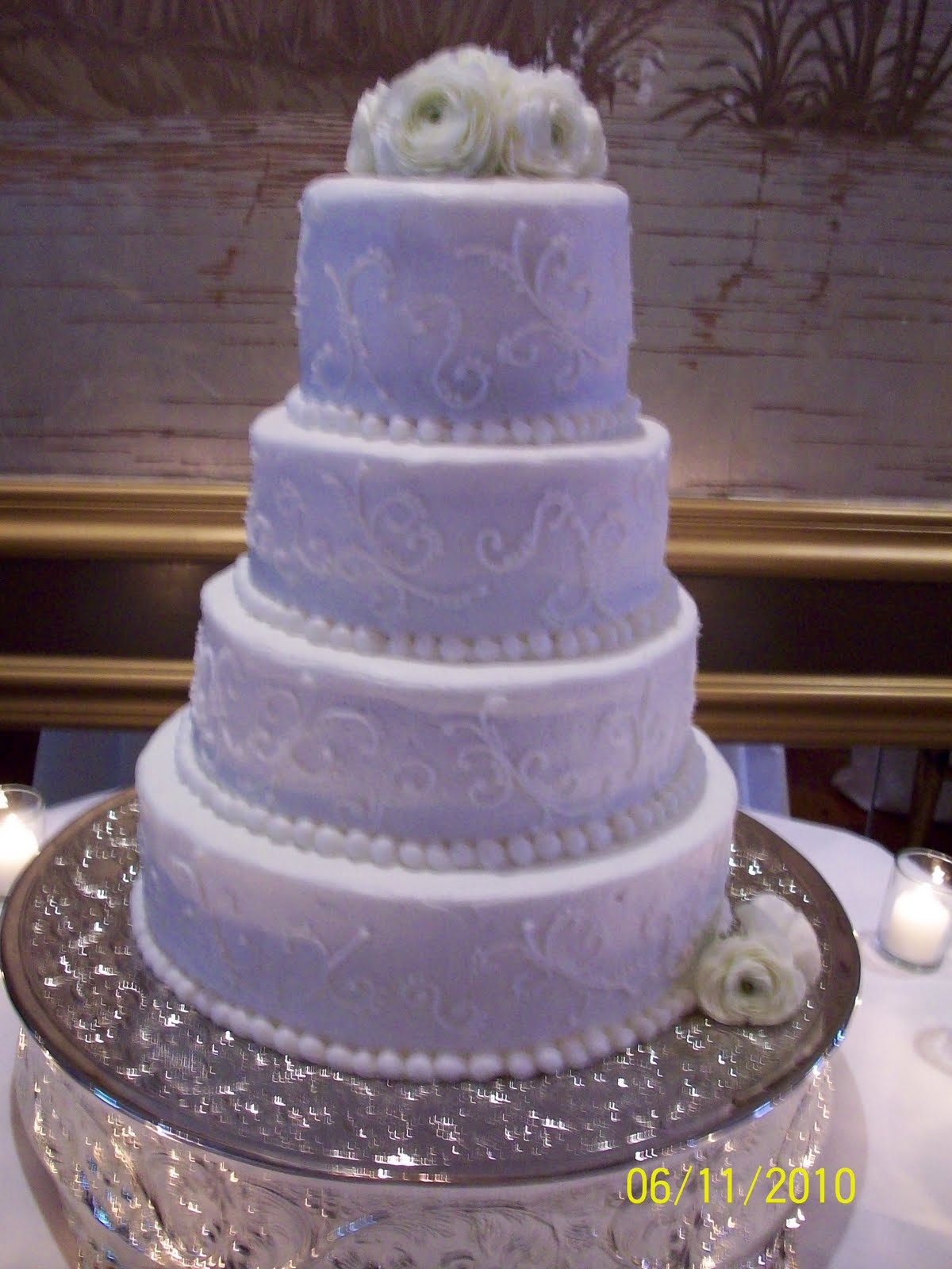 Cakes Candies Cookies Oh My Marie And Brad Morrison Wedding Cake 6 11 10