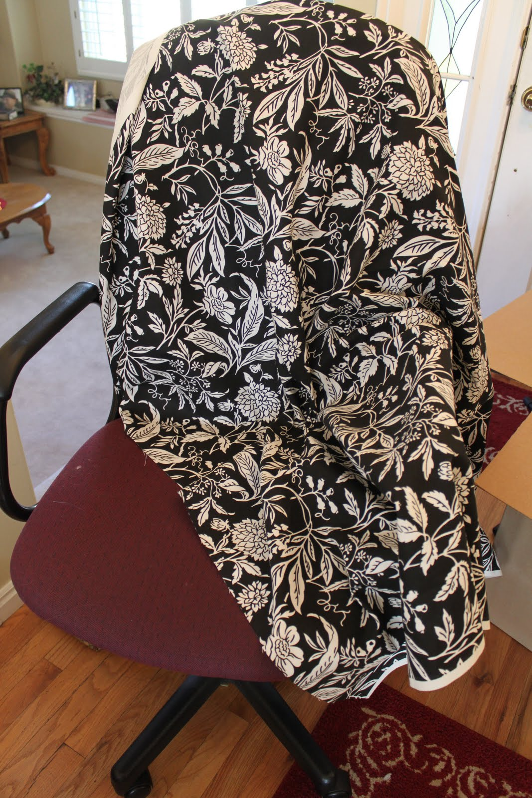 office chair covers to buy fishing cart holder do it yourself divas diy reupholster that ugly is heavy duty fabric specifically meant for home decor i bought three yards cover all my bases and ended up with extra