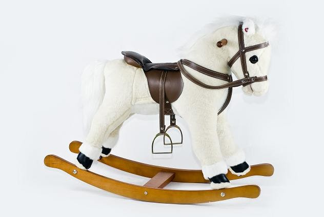 Bibs and Bumps: Little Pony Plush Rocking Horse with Sound