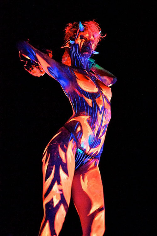 Uv Girl Paint Nsfw Wallpaper Bodyart On Unique Style Body Painting Events
