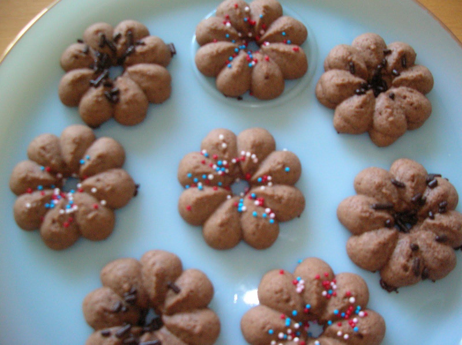 chocolate spritz cookies - photo #1