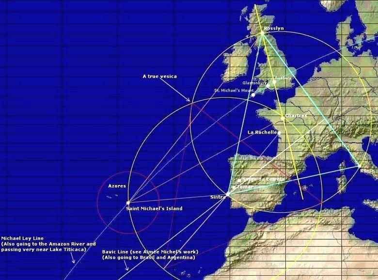 lineasley01 - Las líneas Ley en Europa y su influencia telúrica