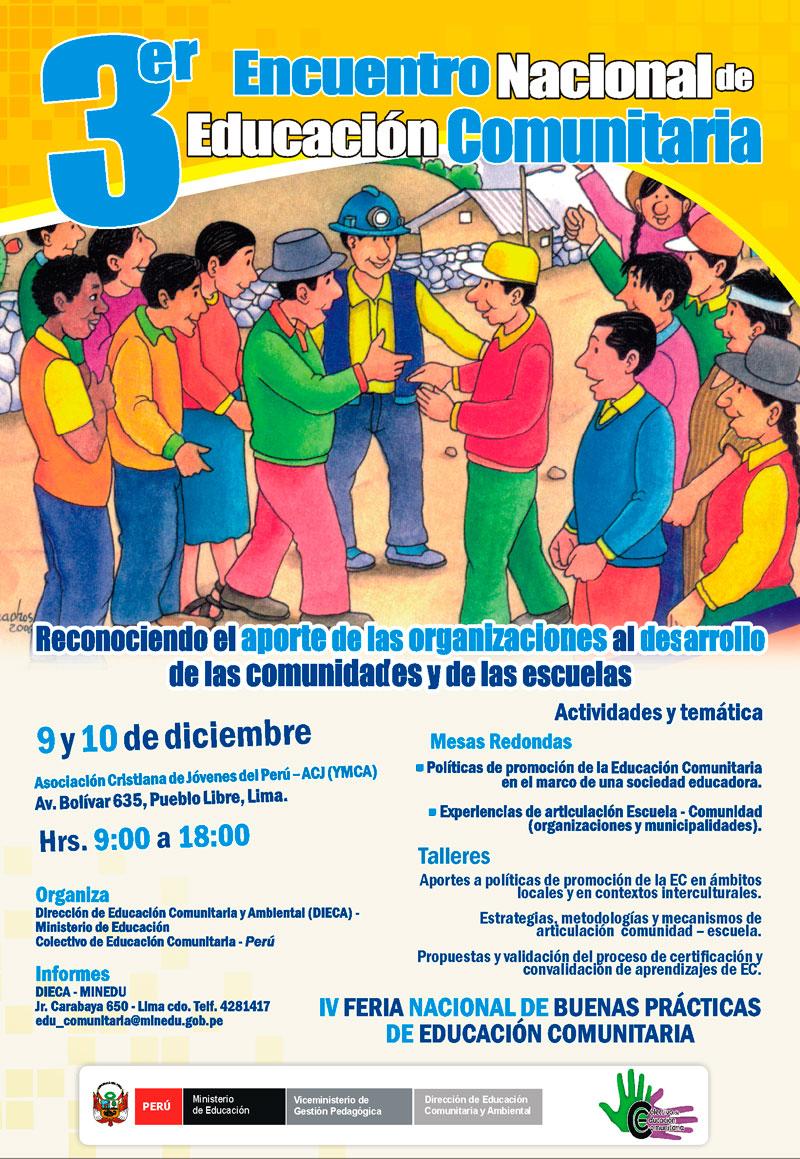 Morropon Presentaran Experiencia De Morropon En Tercer Encuentro Nacional De Educacion Comunitaria Enec 2010