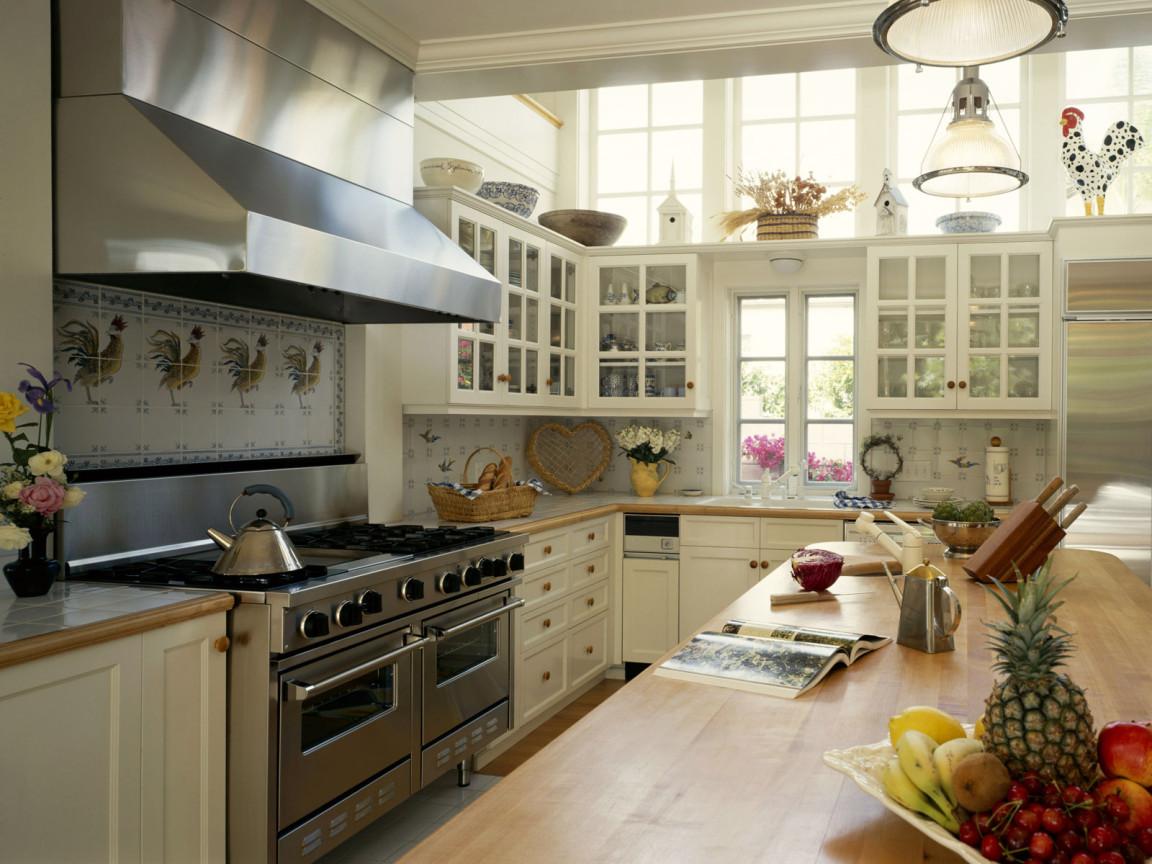 interior design of a big kitchen
