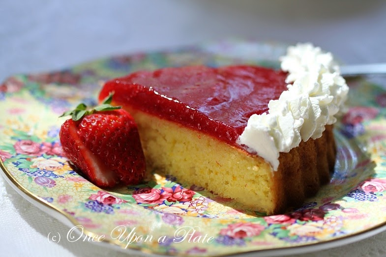 strawberry glaze for cake once upon a plate the recipes lemon cake with 7752