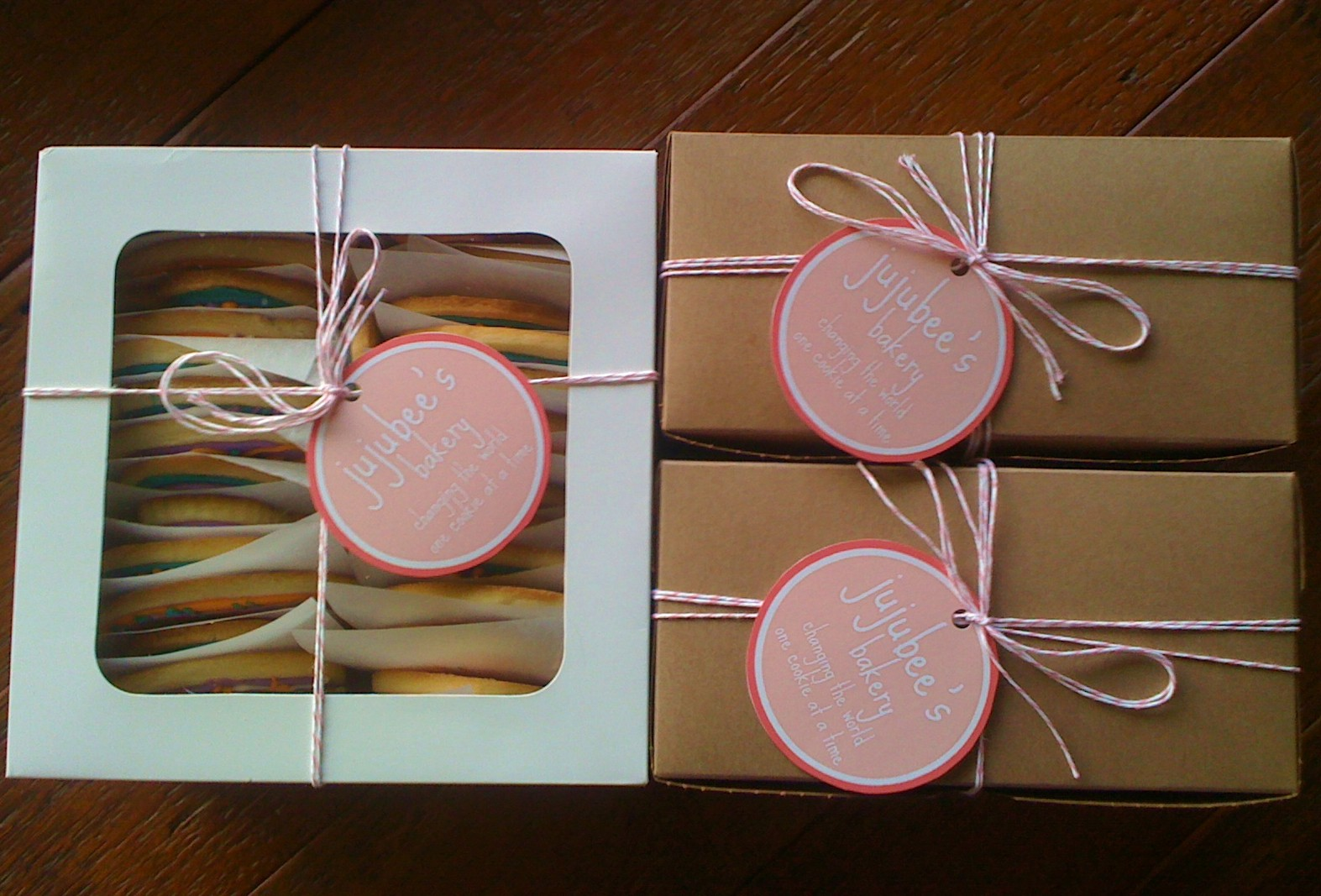 Box Label: Jujubee's Bakery: Boxes And Labels