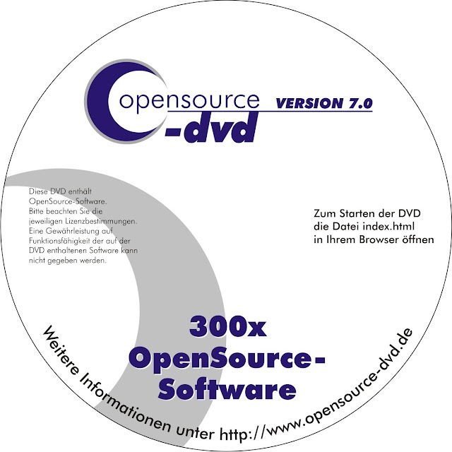 Opensource-DVD, collection de logiciels libres pour Windows