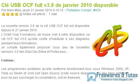 Clé USB OCF full v3.8