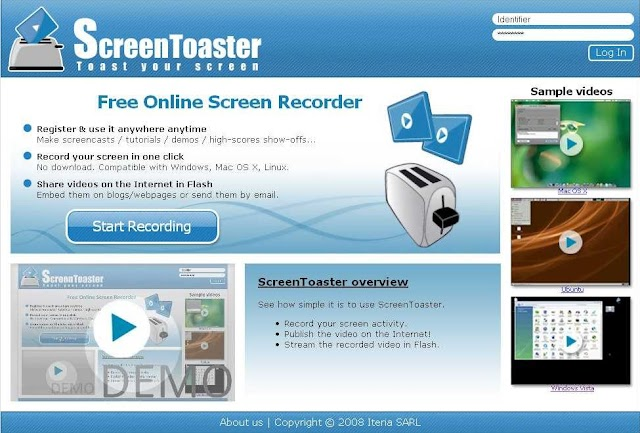 ScreenToaster : le screencast en ligne facile