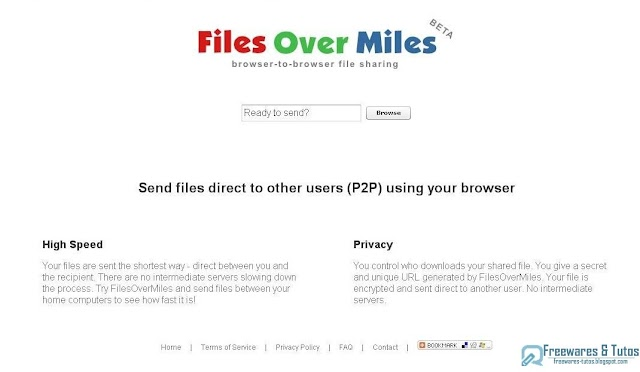 FilesOverMiles.com : le partage de fichiers direct