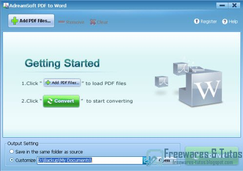 Adreamsoft PDF to Word Converter : une autre solution pour convertir les PDF en documents Microsoft Word (Docx et Doc)