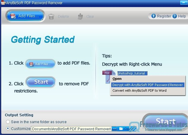 Offre promotionnelle : AnyBizSoft  PDF Password Remover gratuit !