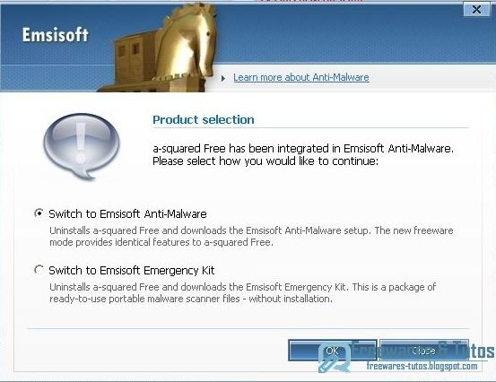 Le logiciel antimalware A-squared Free n'existe plus