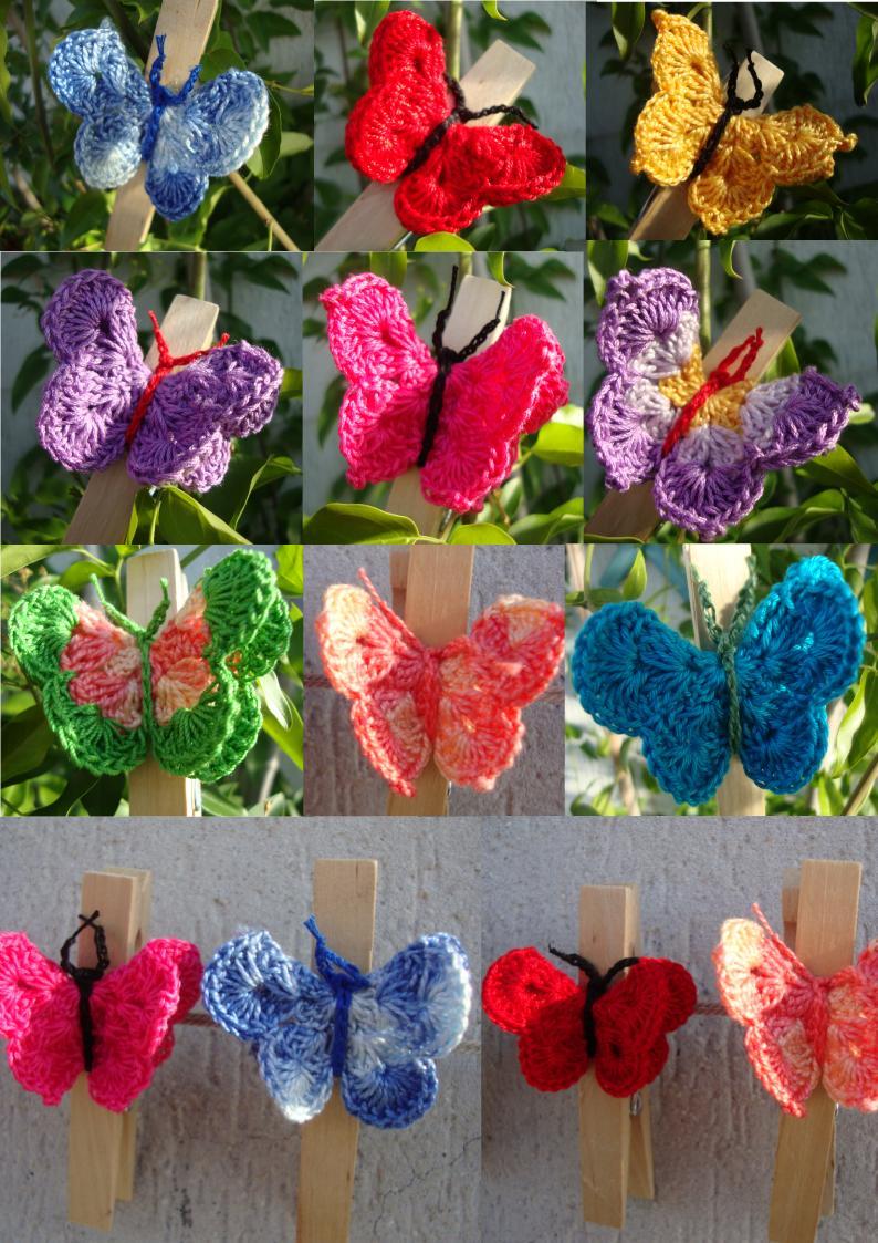 Le Fragole Di Stoffa Clips Farfalle Alluncinetto