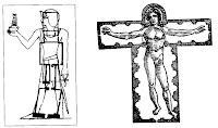 În cadrul idealismului sacru, forma corpului omenesc este un microcosmos al universului. Proporţiile divine pot fi găsite nu doar la amoniţi si la nebuloasele stelare, ci si în trupul uman. Egiptologul R.A. Schwaller de Lubicţ a petrecut cincisprezece ani identificând proporţiile matematice divine la templul din Luxor. De la el ştim că trasarea rituală a fundaţiei si sfinţirea templului constituiau ceremonia de Predare a Casei către Stăpânul ei. In mod similar, scria el, în hinduism construirea unui templu în forma trupului omenesc era considerat a fi un proces magic. Se credea că, dacă supraveghetorul lucrărilor de construcţie făcea o greşeală în ridicarea unei anumite yone a templului, mai târziu avea să capete o rană sau o boală în acea parte a corpului său.