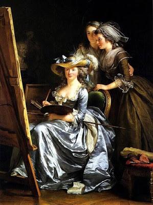 Autoportrait avec deux élèves (1785), Adélaïde Labille-Guiard