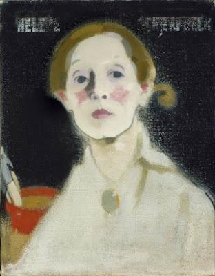 Autoportrait sur Fond Noir (1915), Helene Schjerfbeck