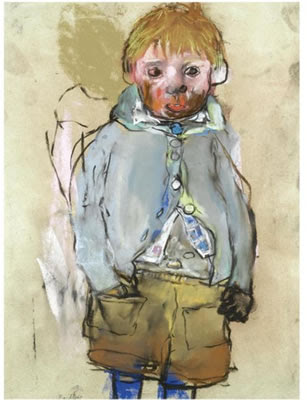 Blue Socks, Joan Eardley