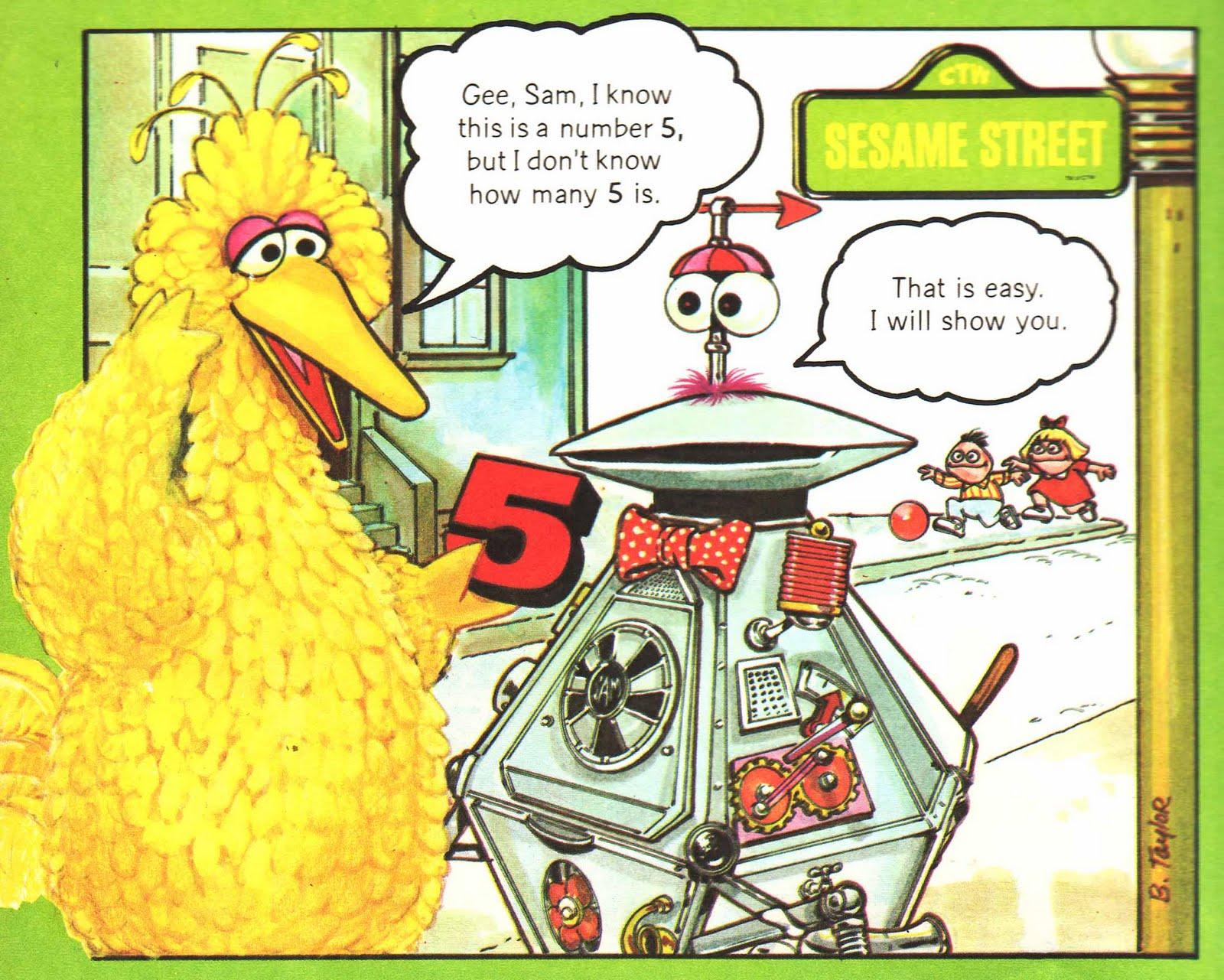 Vintage Kids' Books My Kid Loves: Sesame Street 1,2,3, Storybook