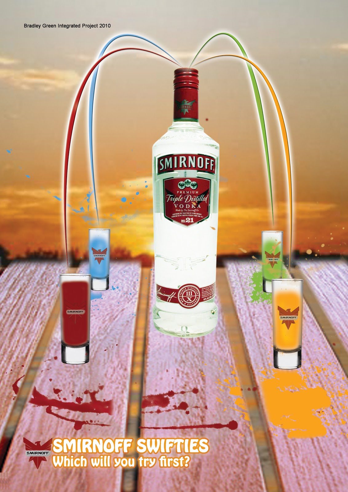 Bradley Green: Smirnoff 'Swifties' advertising poster