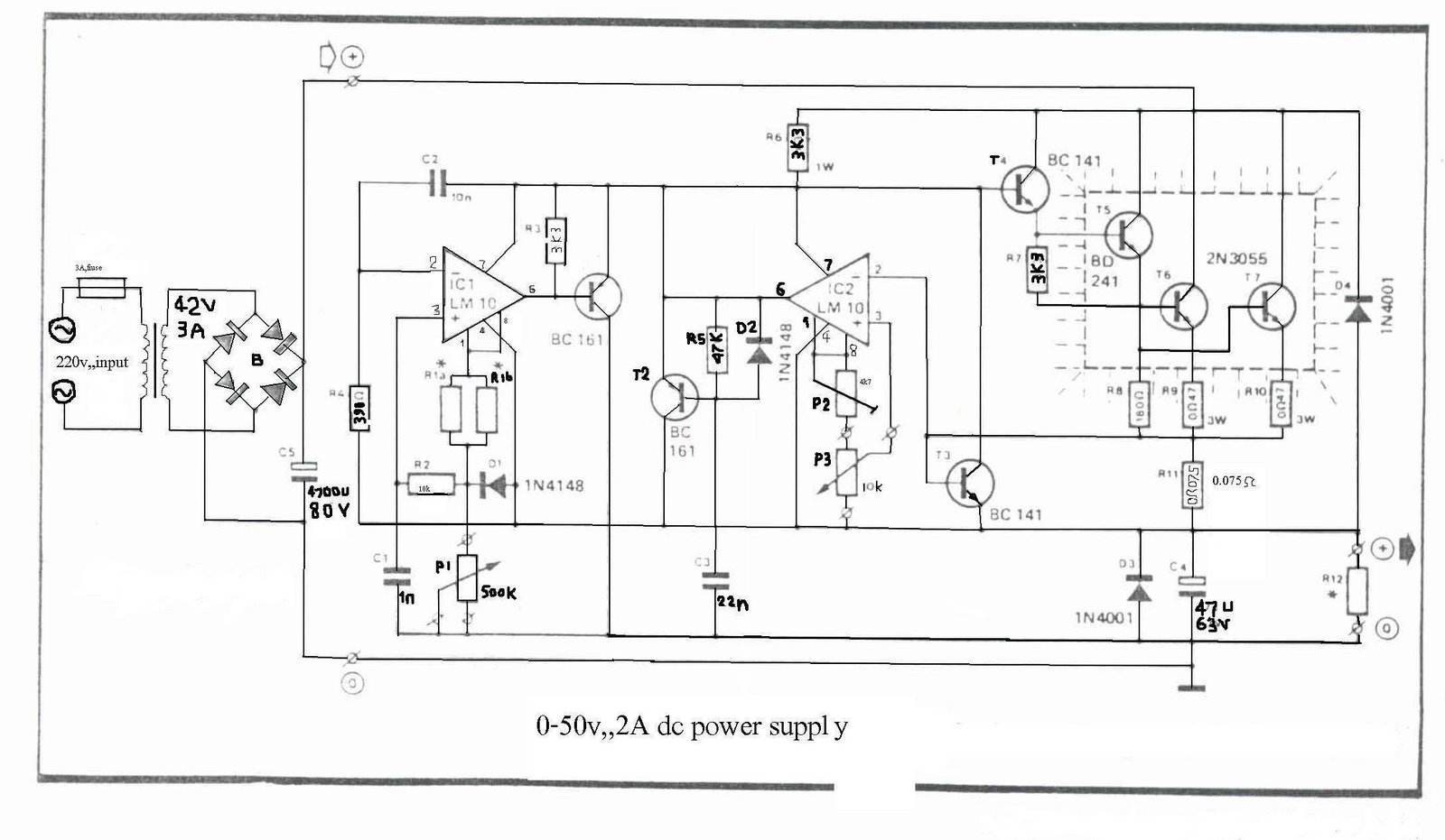 24vdc Power Supply Circuit Diagram Pdf Detailed Schematics Lab Schematic Electrical Wiring Diagrams 0 50v 2a Bench Tehnik Service