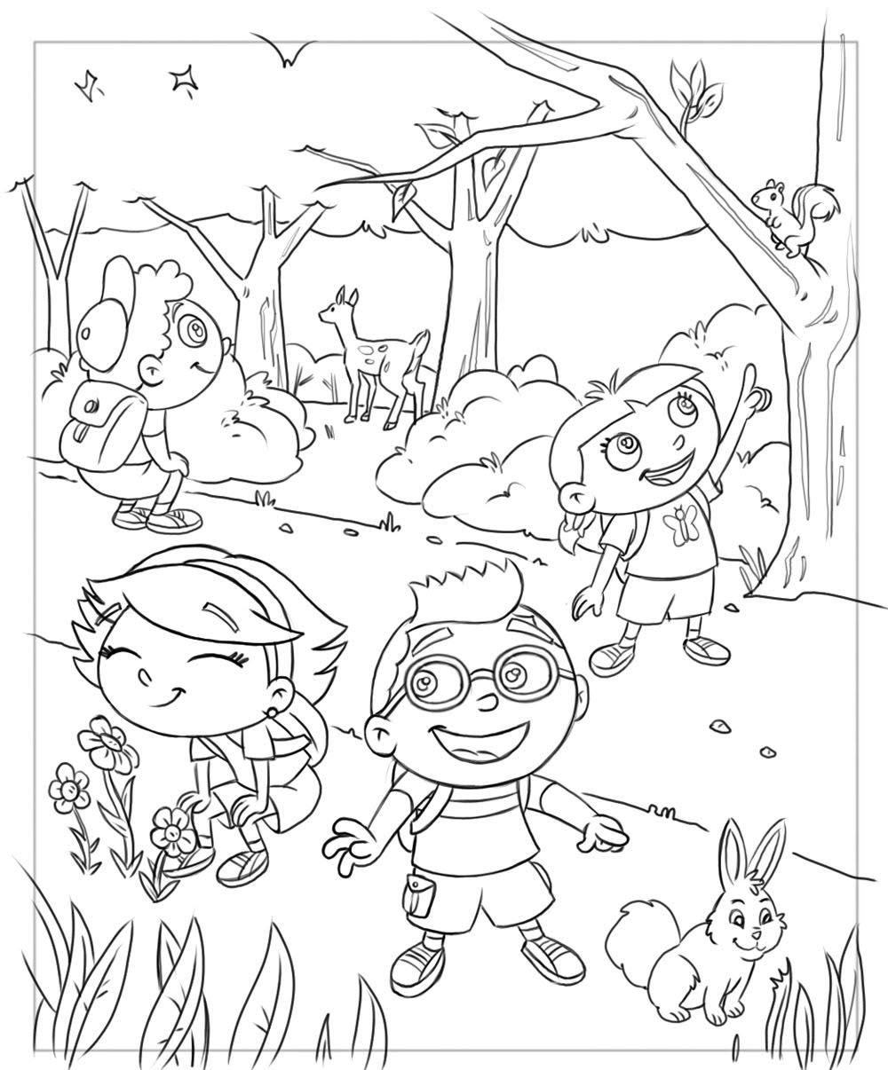 little einstien coloring pages-#17