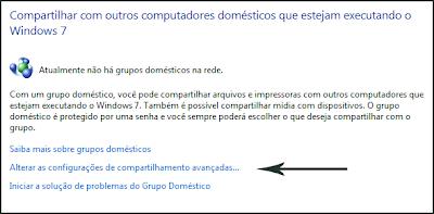 configurações de rede avançadas