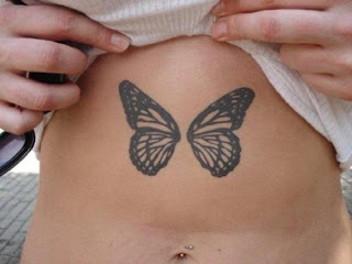 Butterfly Tattoos Stomach