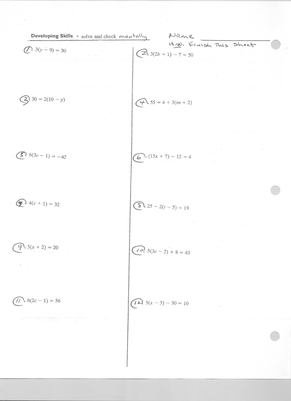 Mr Napoli S Algebra Aim 1 How Solve Equations Using The Distributive Properties 2 How Do