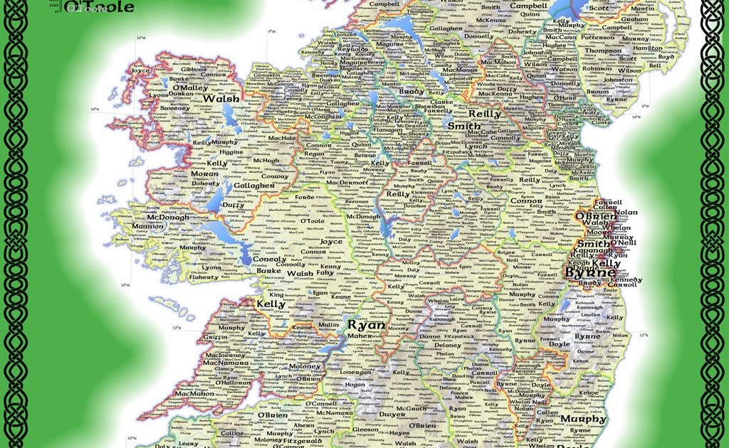 Map Of Quinn Ireland.Your Ancestral Family Blog Surname Map Of Ireland