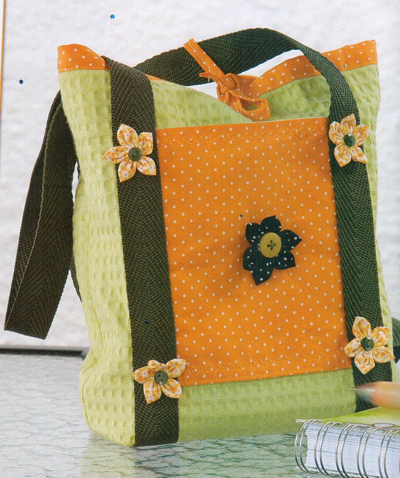 Bolsa De Fuxico Artesanato : Sidney artesanato bolsa com enfeites de fuxico