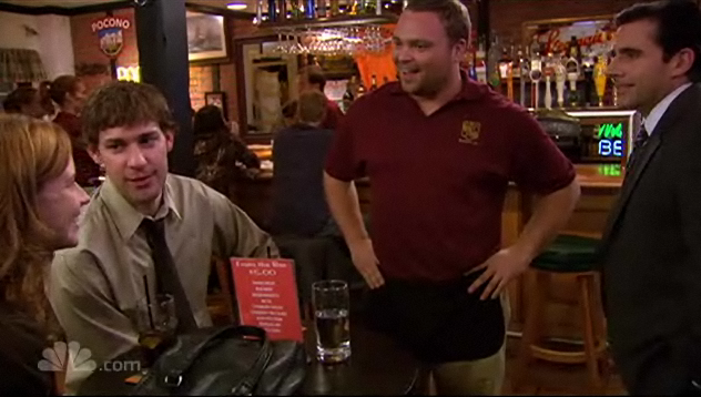 Jim, Pam and Michael in Poor Richard's Bar