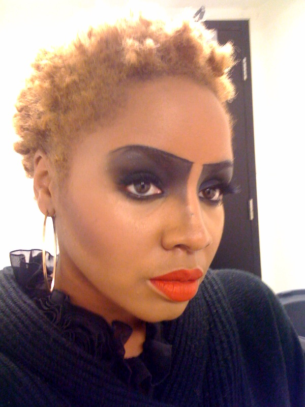 Getting makeup done at sephora