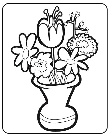 Jarro Com Flores Para Colorir Desenhos De Primavera Para Pintar