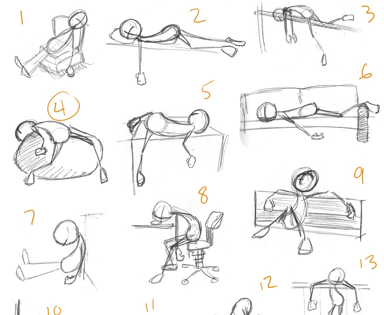 Zach Bova Character Animator: Exhaustion Sketches