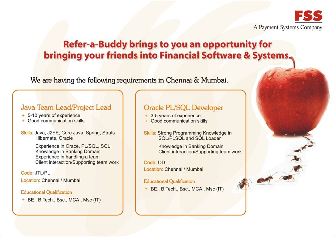 Opportunity is No w Here !: FSS: Buddy' Referral Program - Current
