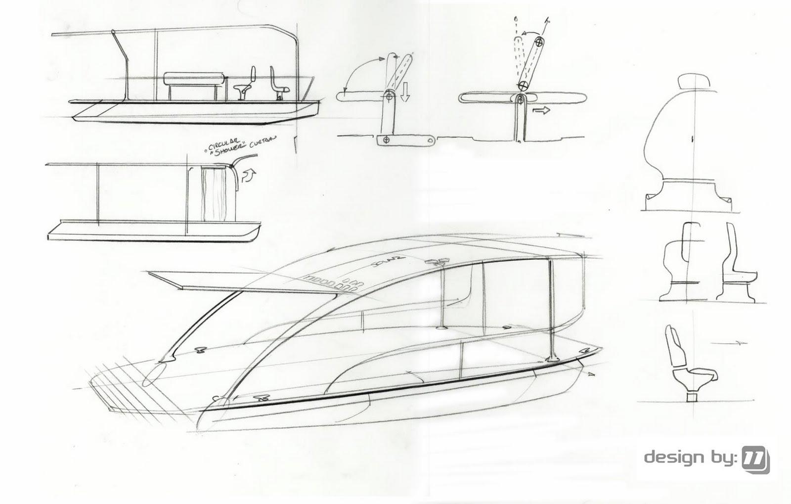 Designby11 Solar Boat