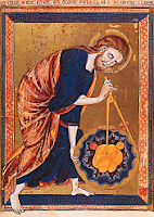 God with scientific instruments as geometer