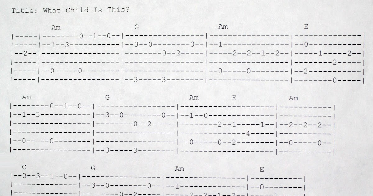 Real Country Guitar: How to Play What Child is This