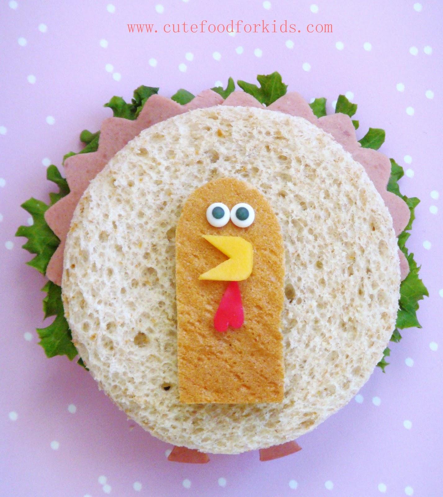 Cute Food For Kids?: A Cute Turkey Sandwich For Thanksgiving