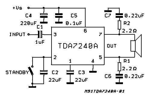 20W bridge amplifier for car radio used TDA7240A