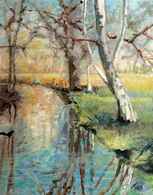 Creek Reflections, 10x8