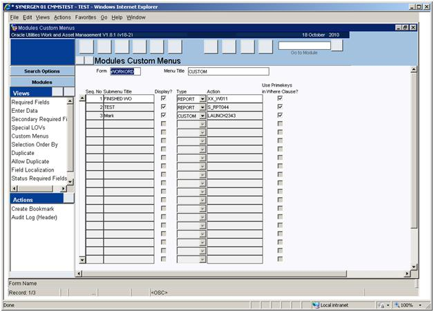 Oracle Utilities Work and Asset Management: October 2010