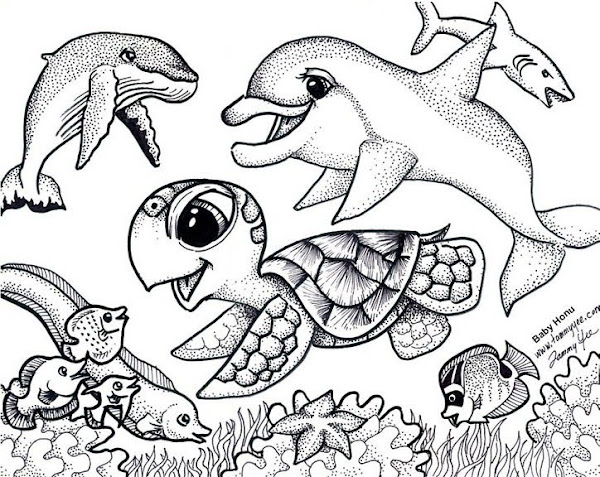 Ocean Fish Coloring Pages Free