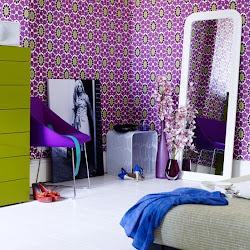 bedroom purple designs funk decor interior