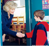 NAMC montessori classroom routine daily greeting shaking hands