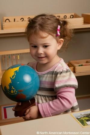 NAMC montessori preschool introducing history passage of time birthday walk clock with globe