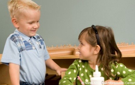 NAMC montessori classroom tips for encouraging normalization children together