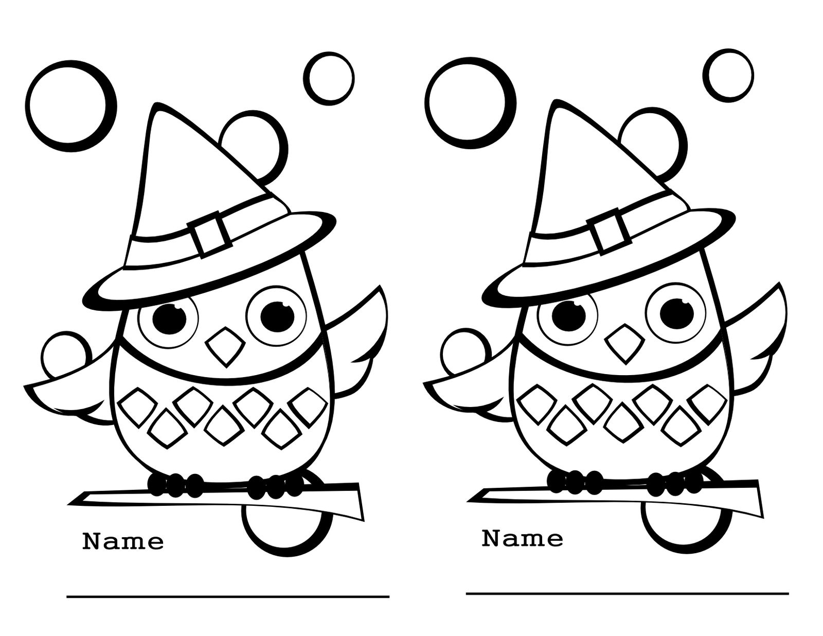 owl coloring pages for