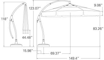 A Honu Product: Treasure Garden Patio Umbrella